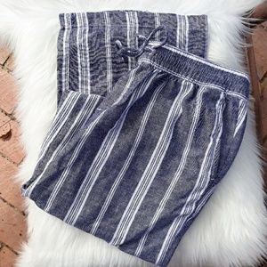 Casual Linen Striped Pants